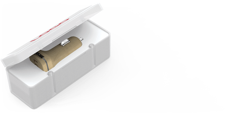Woodie - USB Car Charger Promotional Item