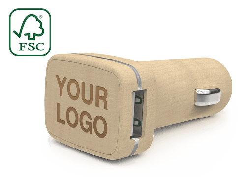 Woodie - Promotional USB Car Charger